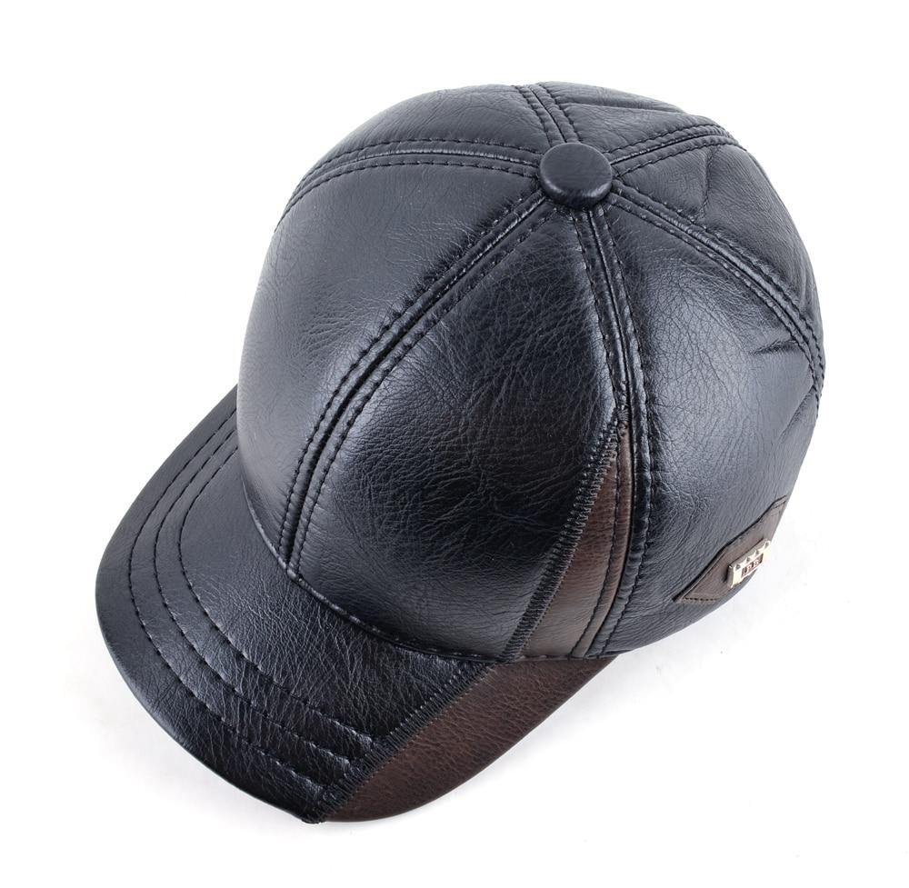 Cuero para hombre invierno cálido patchwork sombrero del papá gorras de  béisbol con orejeras Rusia snapback ajustable sombreros para hombres  casquette en ... ebaa81c6a1c
