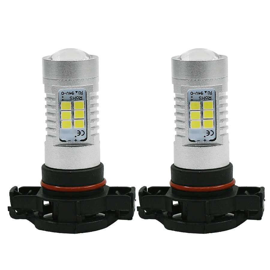 2pcs High Power 2835 SMD 5202 H16 PSX24W LED Bulbs Fog Lights Daytime Running Light Lamp For Car White 6000K Free Shipping dc12v h7 7 5w 5led led fog light high power car auto led xenon white daytime running light bulbs headlight head lights