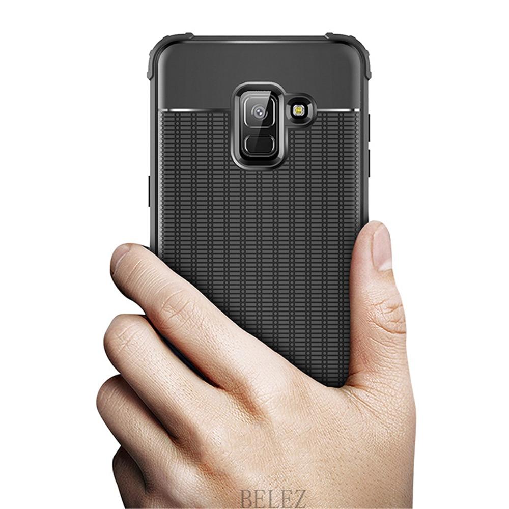 Luxury Carbon Fiber Cover for Samsung Galaxy A8 A6 A750 J4 J6 Plus A9 A6s 2018 Soft Case S7 edge S8 S9 Note 8 9 J2 J3 J5 J7 2017 8