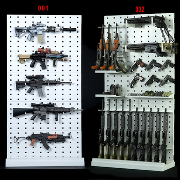 Model 001/002 1/6 Scale Gun Rack Modular Weapon Guns Display Stand Set (Weapons not included) For 12