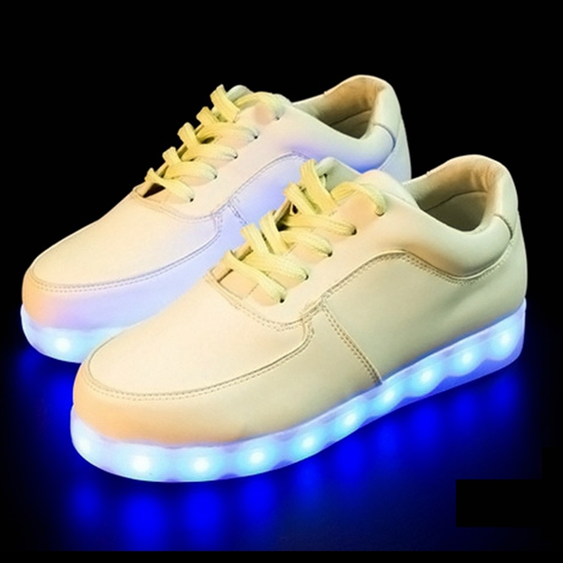 Shoes Colorful Adult Led Lights Usb Charging Colorful Shoes Mesh Mens Models Luminous Shoes Shoes High Safety Men's Shoes
