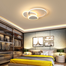 Remote control White/Brown Modern led Ceiling Lights metal Ceiling Lamp Dining room Foyer Bed room lamparas de techo led lamp free shipping modern led ceiling lights for dining room creative spring acrylic ceiling lamp luminaire lustre lamparas de techo