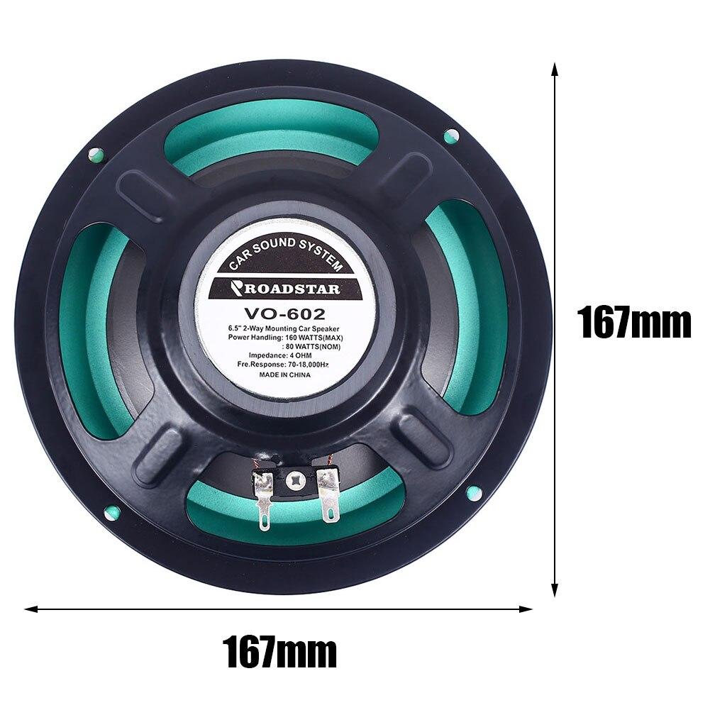 6,5 дюймов 4 Ом 80 Вт автомобильный аудио коаксиальный динамик Автомобильная дверь авто аудио музыка стерео сабвуфер автомобильный аудио Громкоговоритель Hi-Fi Рог