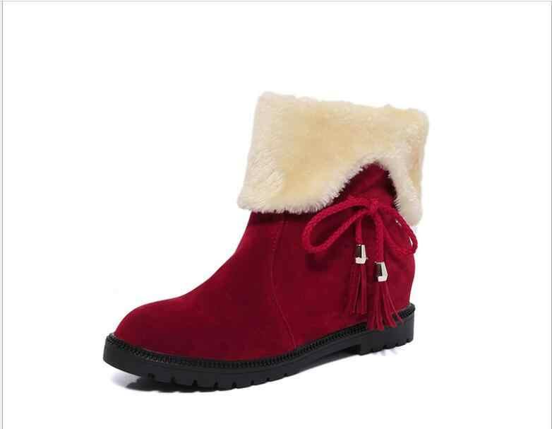 Ilkbahar/Sonbahar/Kış Kadın Çizmeler Süper Sıcak kalınlaşma Öğrenciler Iki Çeşit Giyim kadın moda Bot Ayakkabı