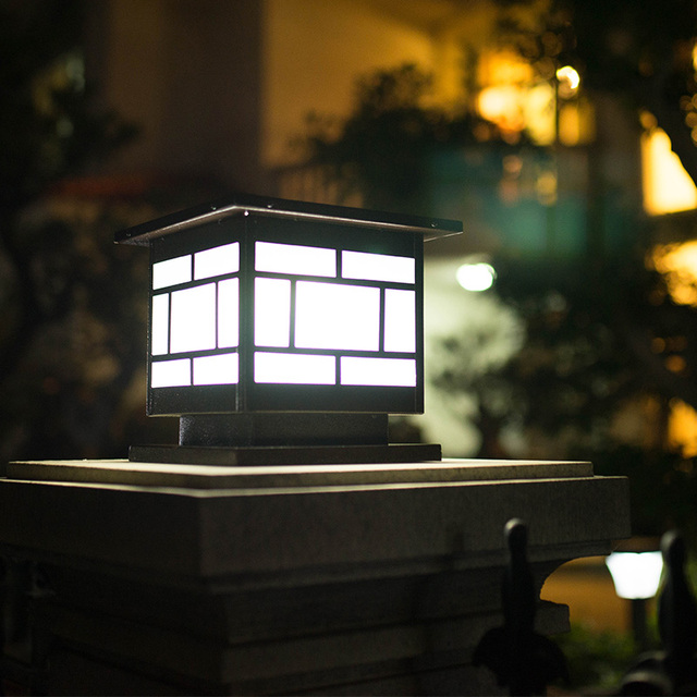 linternas solares de columna de pared exterior jardn lmparas led iluminacin del paisaje de la lmpara