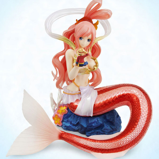 23cm One Piece Anime Figures Shirahoshi sexy Cute Popular Action Figure With Luffy in Her Hand Dolls Collection Model Toys