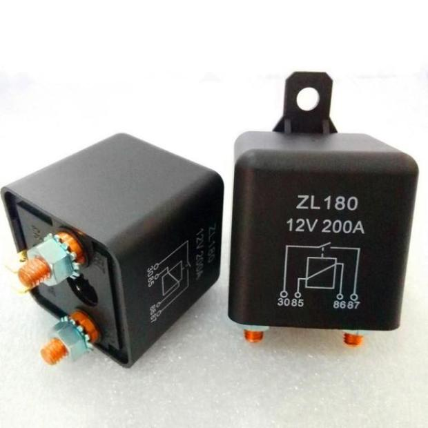 цена на 5PCS Large Current Power Relay 12/24V 200A SPST In Car/Truck/Boat Stater Black