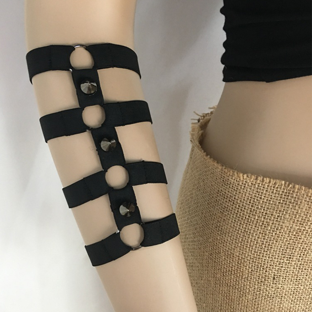 Buy Women Sexy Lingerie Garter Belt Arm Loops Sexy Bondage Armlet Punk Strap Gothic Arm Harness Sexy Body Bondage Lingerie Harness