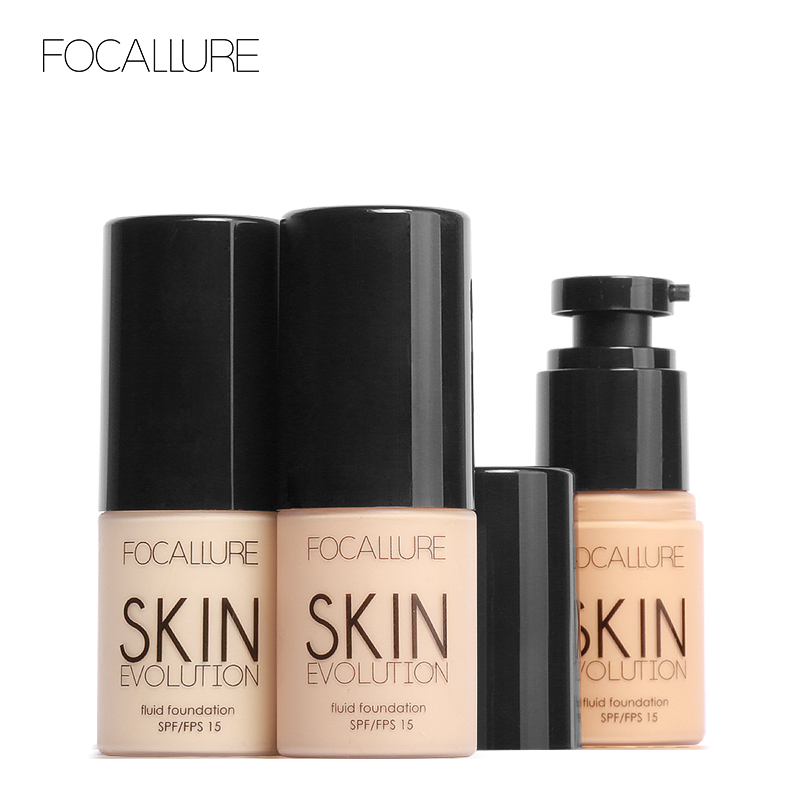 FOCALLURE  Foundation Makeup Face  Oil Control Waterproof  Liquid Cream Concealer Skin Color Changing Cosmetics