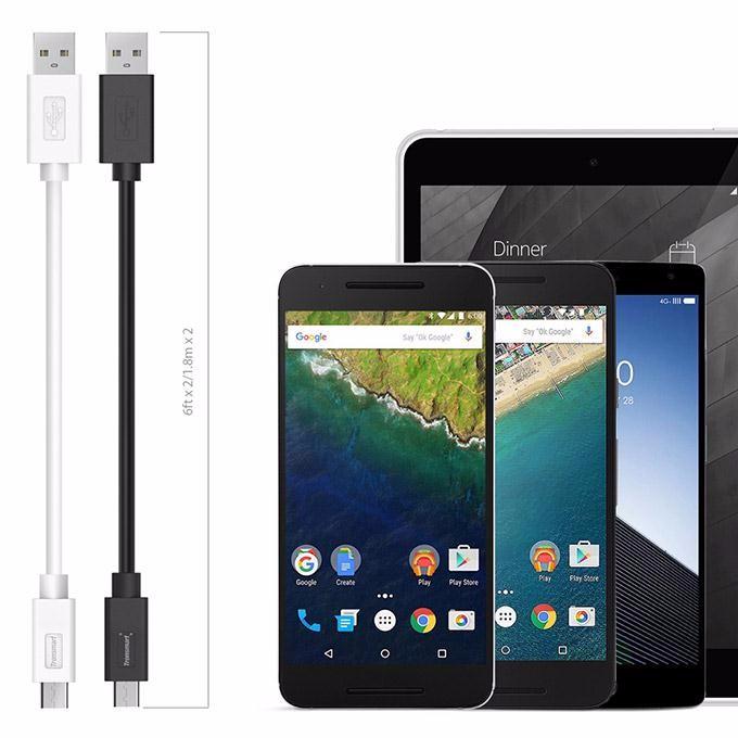 Original Tronsmart CC05P 2pcs USB Type C Male to USB Male Cable USB Type-C 6ft1.8M2 for Xiaomi Meizu Lenovo ZUK Huawei LeTV (6)