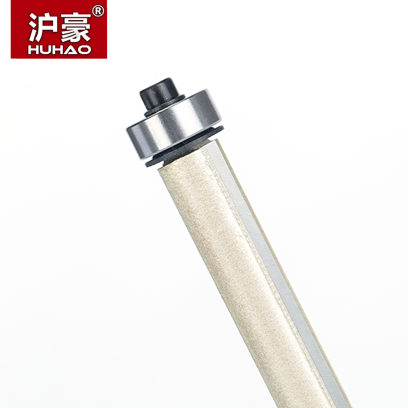 """Image 2 - HUHAO 1pcs 1/2"""" Shank Lengthened Flush Trim Router Bits for wood Trimming Cutters with bearing woodworking tool milling cutter-in Milling Cutter from Tools"""