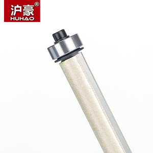 """Image 2 - HUHAO 1pcs 1/2"""" Shank Lengthened Flush Trim Router Bits for wood Trimming Cutters with bearing woodworking tool milling cutter"""
