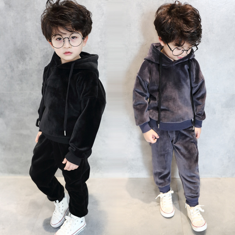 Boys Clothes Autumn Winter Boys Sport suit Children Clothing Set Kids Tracksuit Boys Teenager Fleece pleuche 3-7 T Kids Clothes