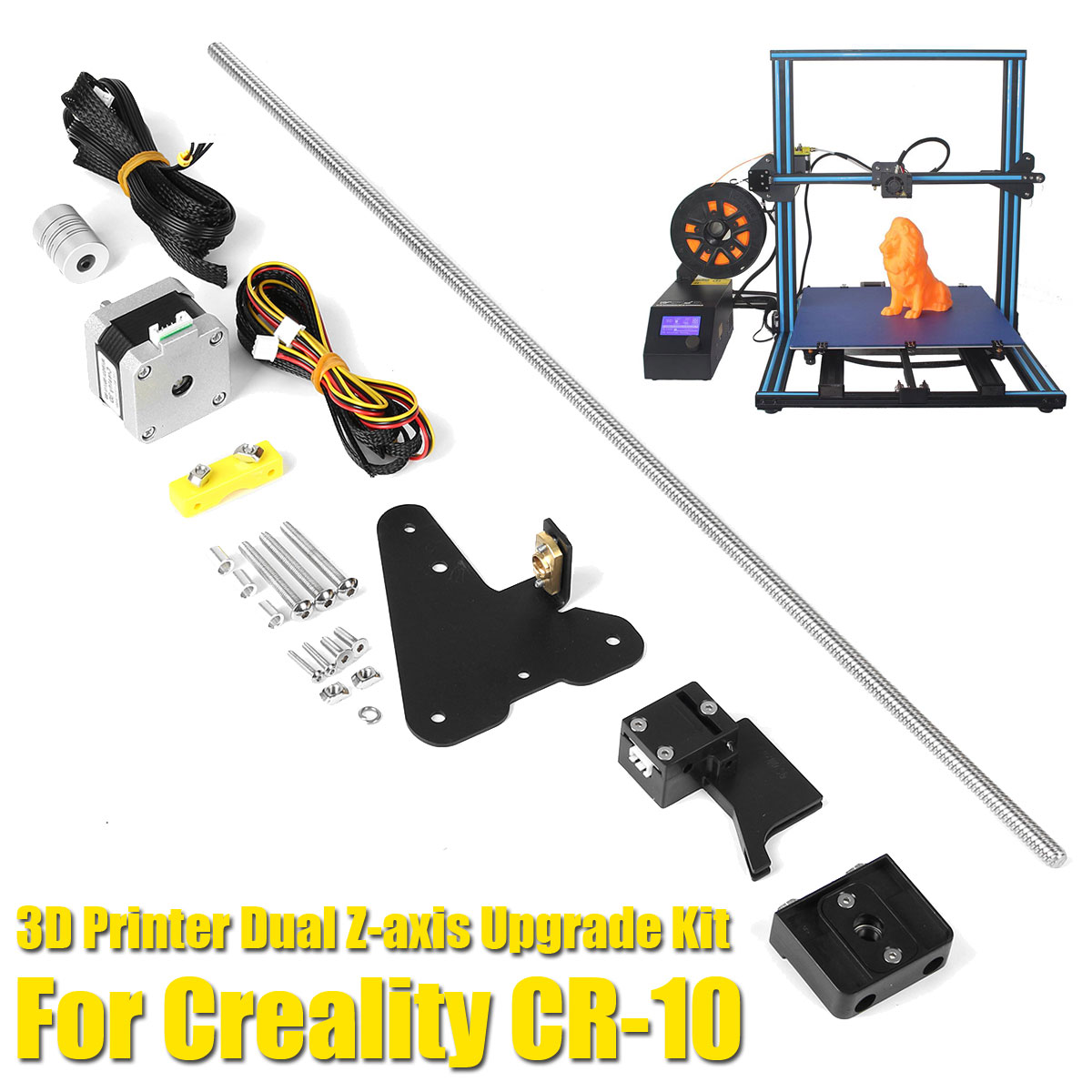 S SKYEE 3D Printer Dual Z axis Upgrade Kit + Filament Sensor Kits For Creality CR 10 3D Printer Parts-in 3D Printer Parts & Accessories from Computer & Office    2