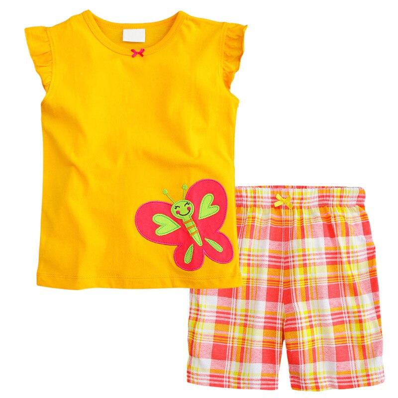 New Fashion Summer Baby Girl Clothing Set Cartoon Dot Shorts Little Girls Summer Sets Children Kids Clothes Set Toddler Girl