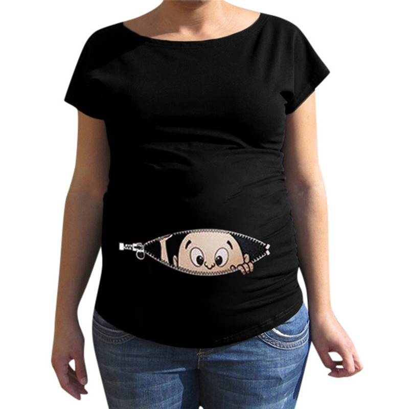 Telotuny Maternity Clothes Maternity Clothes For Pregnant Women Cartoon Print T-shirt Pregnancy Clothes Women Maternity Dec28(China)