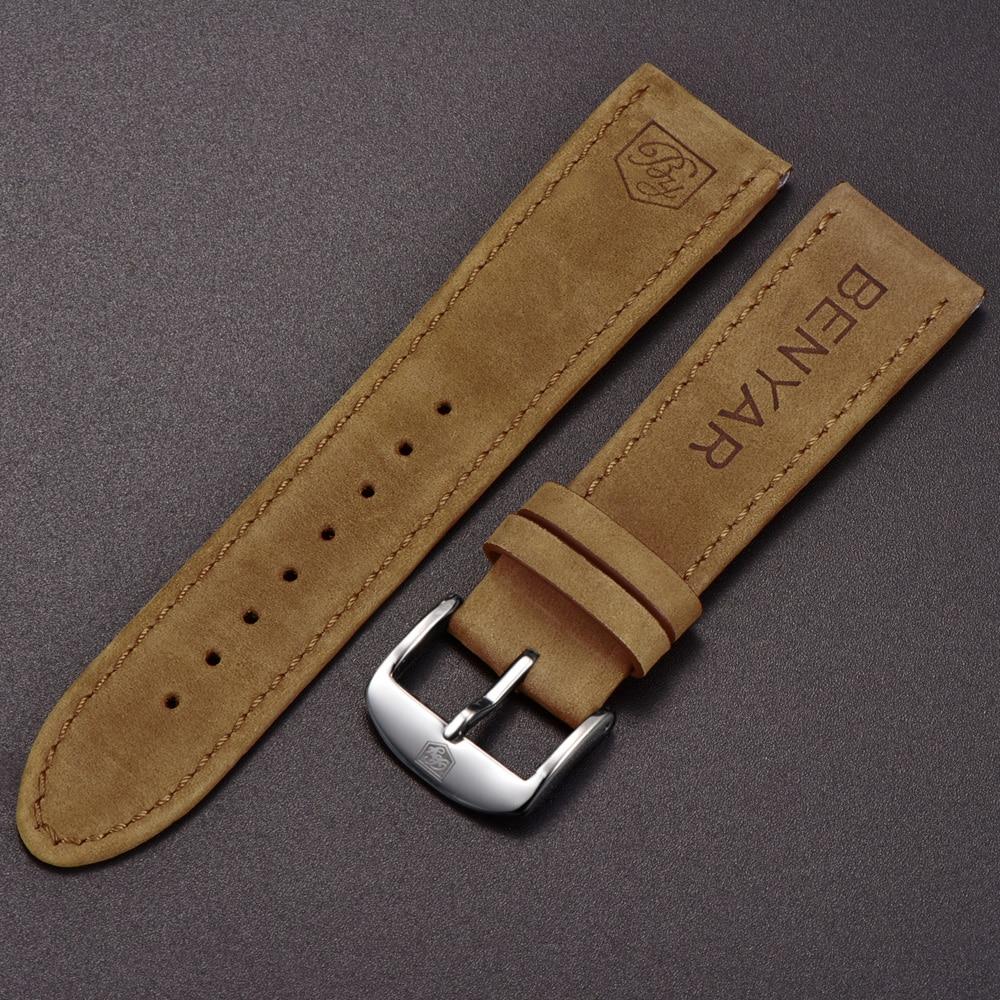 D'origine BENAYR bracelet en cuir pour BY-5102M Montre largeur De Bande 22mm pour BY-5104M