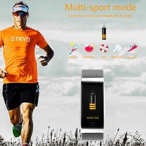 Image 5 - Onevan metal banda inteligente monitor de pressão arterial e freqüência cardíaca gps esporte fitness ip67 inteligente pulseira relógio para xiaomi android ios