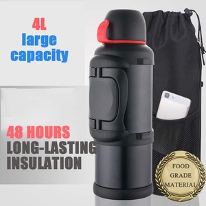Image 2 - Stainless steel vacuum thermos car kettle outdoor travel insulation kettle 4 5L large capacity