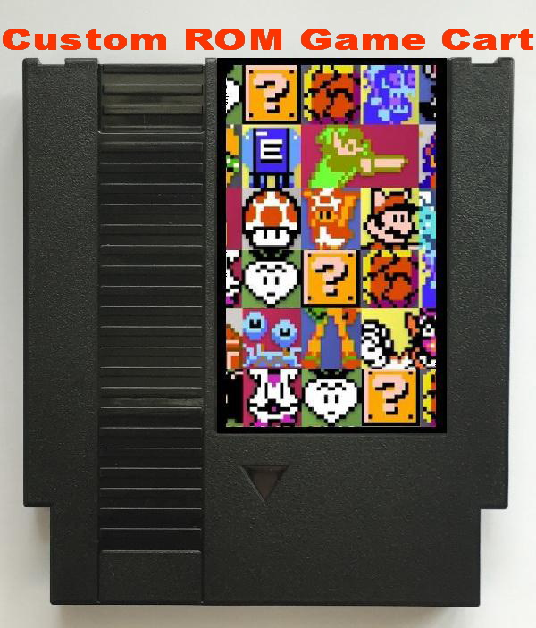 Custom Make SINGLE Game Cartridge For NES Console, Support Mapper 7, 9, 10, 11, 21, 24, 40, 66, 69, 71, 75,  79, 162, 163 Games.