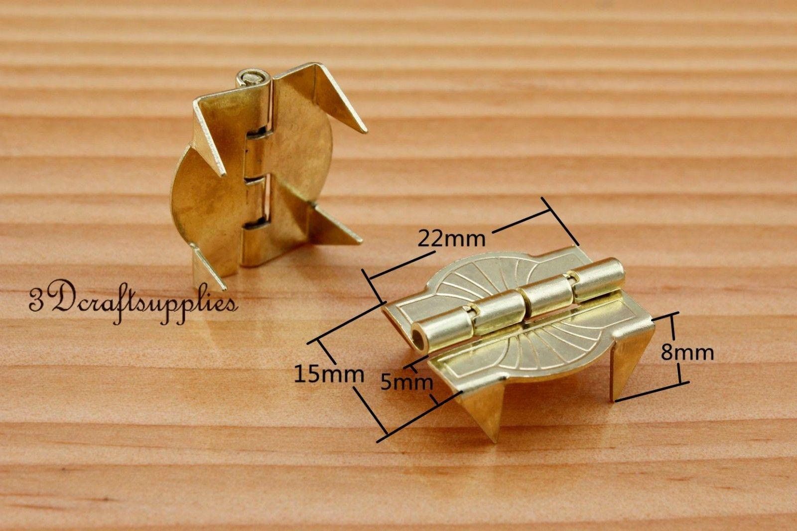 metal Hinges wooden cigar box jewelry Making light gold 15mm x 22mm CF41