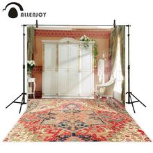 Allenjoy photographie fond mariage salon fenêtre fleur tapis toile de fond photo studio shoot photophone photocall décor