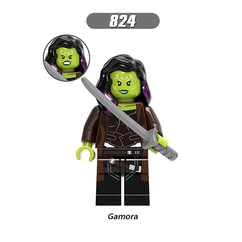 Single Sale LegoINGlys Enlighten Avengers 3 Infinity War Figures Gamora Bricks Building Blocks Children Gift Boy Toys X0187