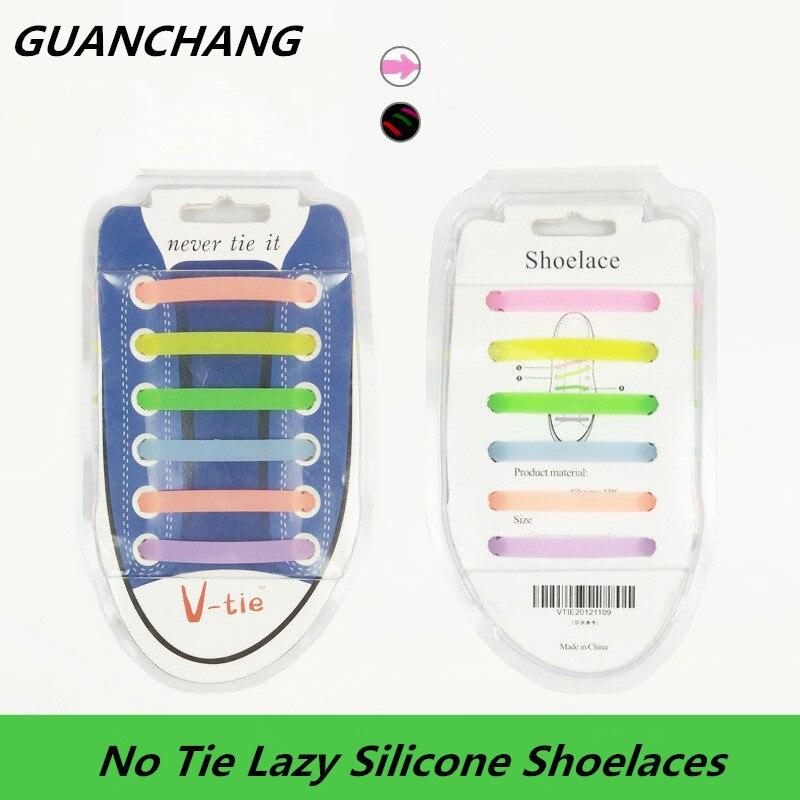 Мода силиконовые светодиодный световой эластичные шнурки светящиеся обуви кружева шнурки без галстука ленивый Shoeslace резиновые тапки дропш…