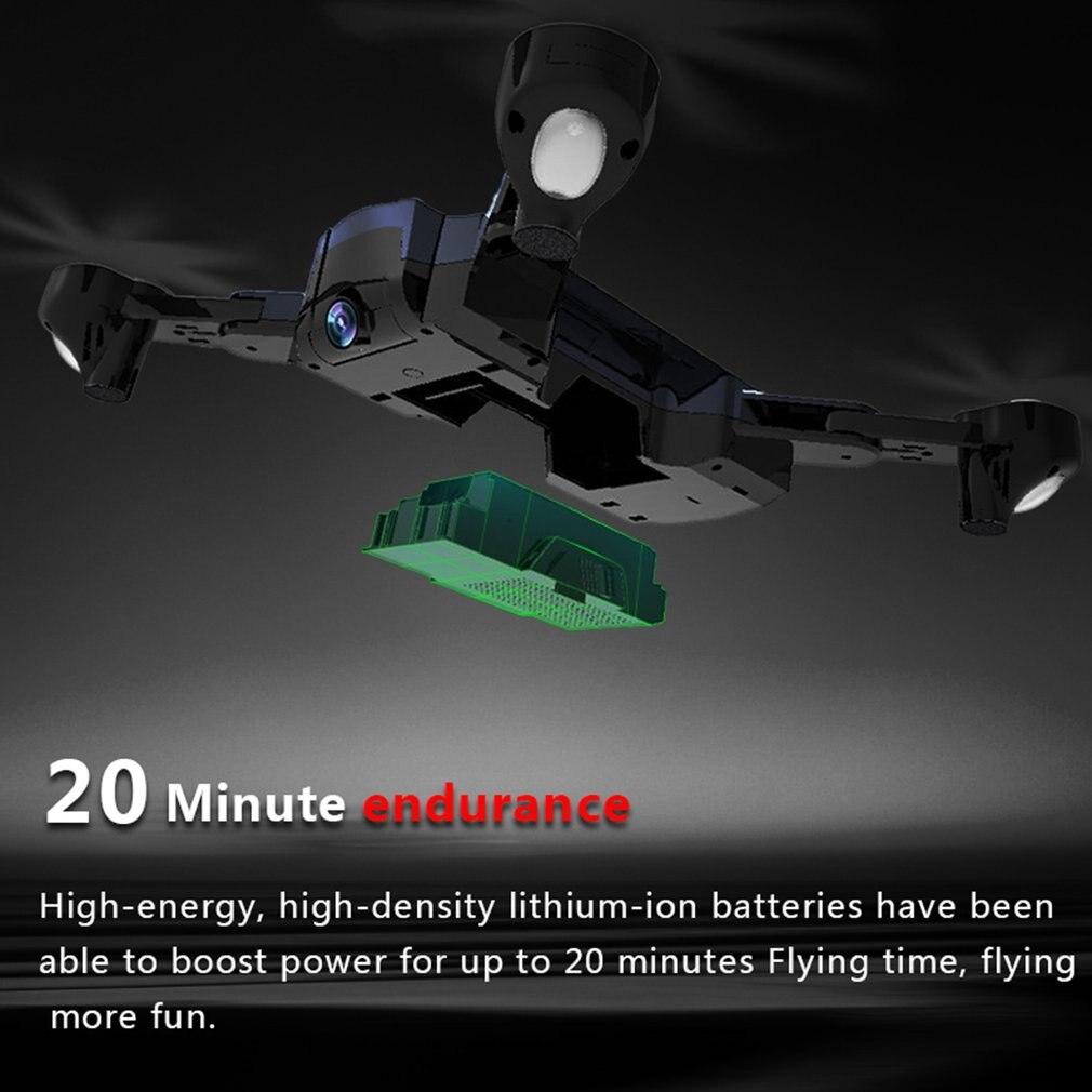 F196 Flux Optique Localisation RC Drone avec 2.0MP HD Caméra Pliable Quadcopter Wi-Fi2200mAh Batterie Sans Tête Mode Avions z