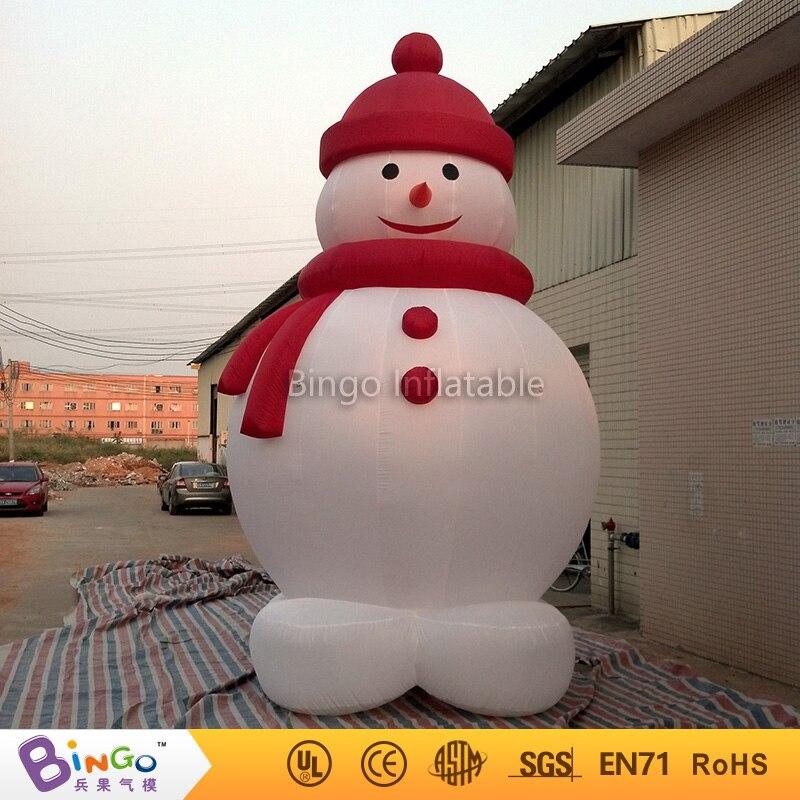 Бесплатная доставка Рождество большие надувные морозный снеговика модель для дворе индивидуальные декоративные снеговик Реплика Игрушеч...