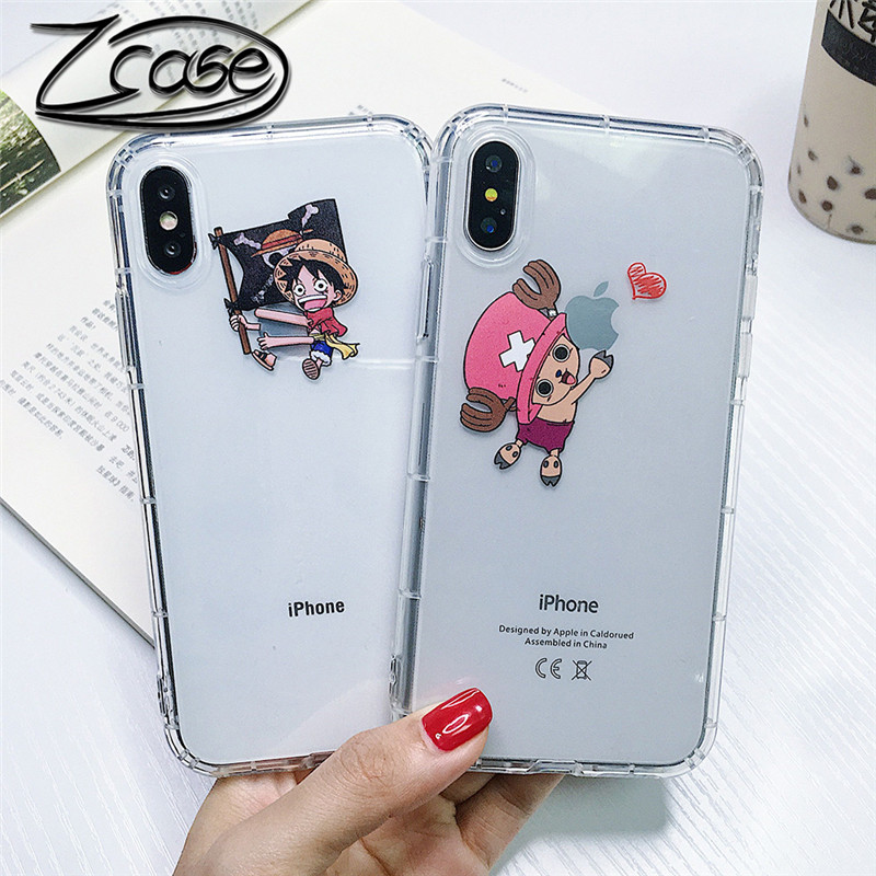 One Piece Luffy Choppe Pattern Phone Cases for iPhone X XS MAX XR 6 6s 8 7 Plus Soft TPU Back Cover Fundas Coque