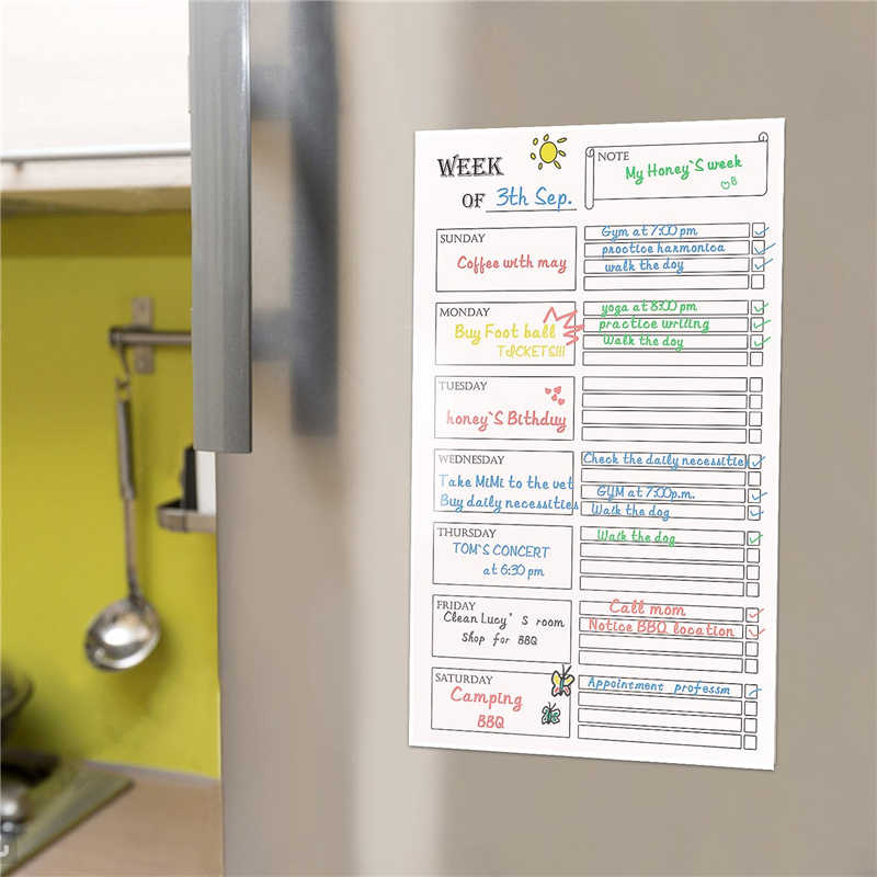 detail feedback questions about refrigerator calendar monthly weekly