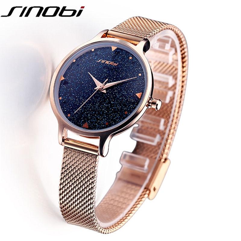 Fashion Galaxy design Luxury brand Quartz Watch Women Ladies Dress Casual Stainless steel 2017 Clock Female Wristwatch relogio f