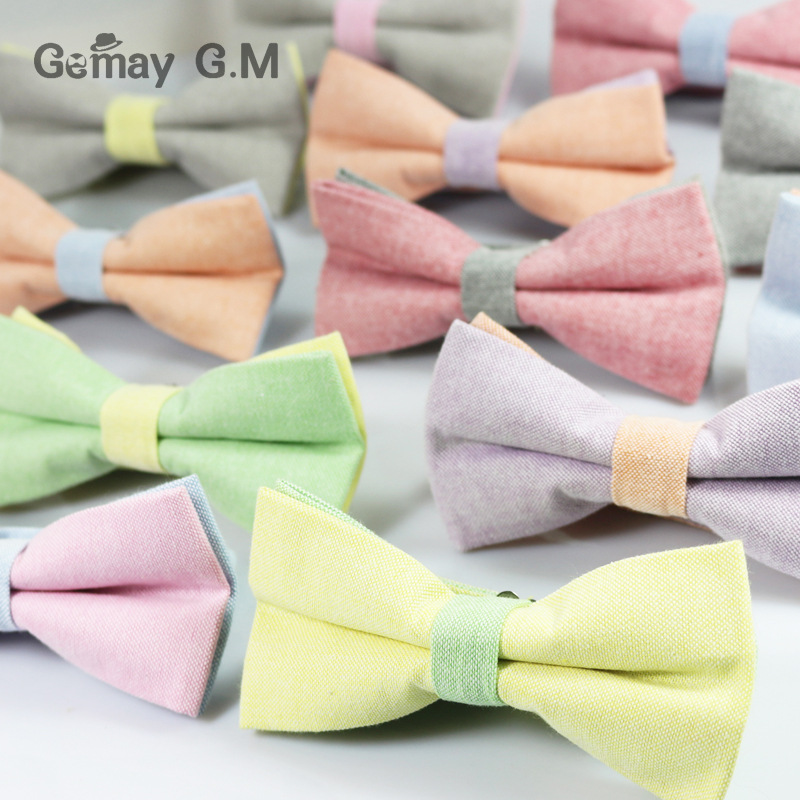 Fashion Business Suit Bowties for Men Classic Solid Color Mens Bow Ties Neckwear For Party Unisex Cotton Vestidos Bowtie Cravat