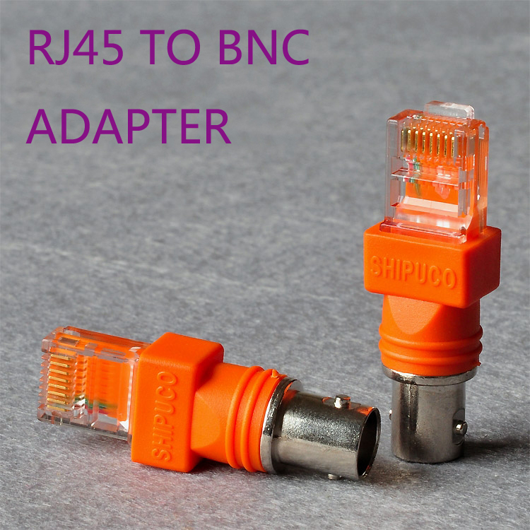 RJ45 male to BNC male Adapter - For RJ45/BNC Tester Or Security system connection bnc м клемма каркам