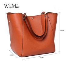 Luxury Brand Women Genuine Leather Handbag Real Cow Leather Shoulder Bag Large Capacity Totes Cattle Split Bag For Mom