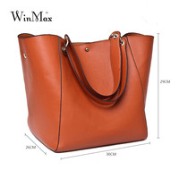 Luxury Brand Women Genuine Leather Handbag Real Cow Leather Shoulder Bag Large Capacity Totes Wristle Cattle