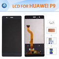"For Huawei P9 original LCD display touch screen digitizer glass assembly 5.2"" black white gold screen repair adhesive tools film"