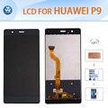 """Para huawei p9 original pantalla lcd táctil digitalizador asamblea de cristal 5.2 """"herramientas de reparación de la pantalla adhesivo película de oro negro blanco"""