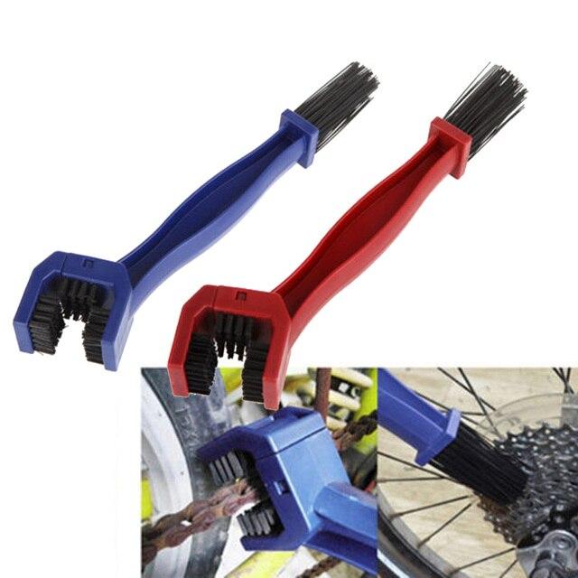 Пластиковая велосипедная Мотоциклетная цепь для велосипеда, чистящее щеточное устройство, щетка для гранж, очиститель для наружного использования, скруббер, бизиклет, инструменты