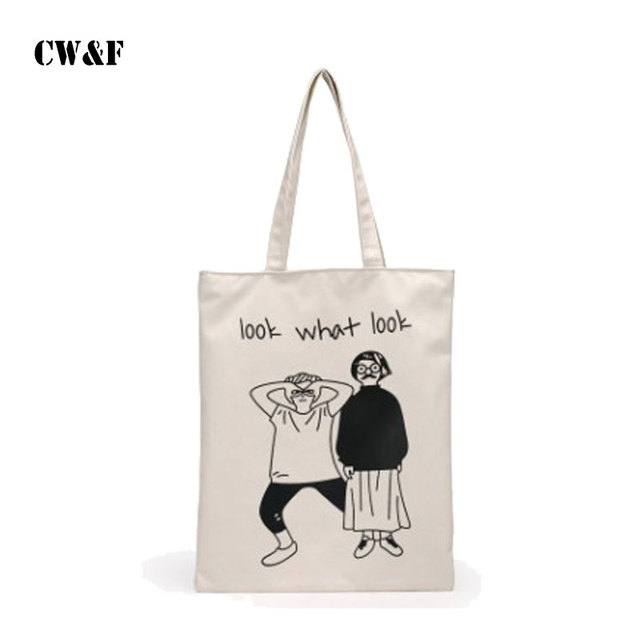 12fe21c9c9 2018 new canvas bag shoulder handbag simple student bag Todd shopping bag  tide