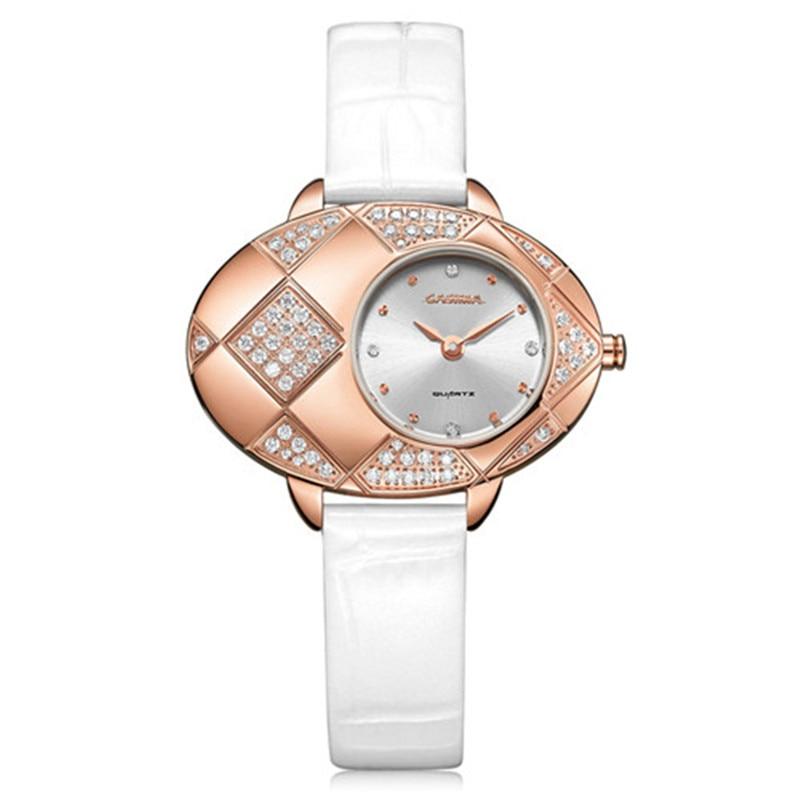 все цены на Luxury brand watches Fashion watches women casual quartz watch fashion green black Leather Strap waterproof 50m CASIMA#2621 онлайн