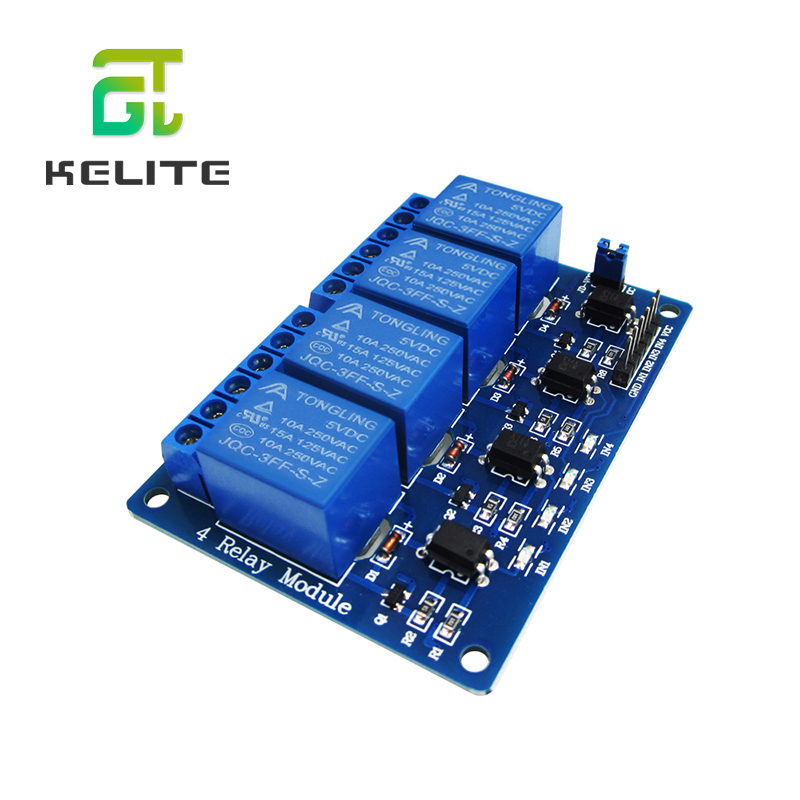 HAILANGNIAO 1PCS/LOT 5V 4-Channel Relay Module Shield  ARM PIC AVR DSP Electronic 5V 4 Channel Relay Module