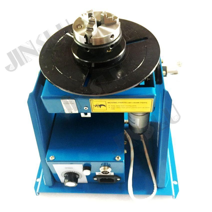 220 V BY-10 10KG-os hegesztő forgóasztal-forgató cső vagy kör munkadarab hegesztési pozícionálóhoz K01-63 mini tokmány segítségével