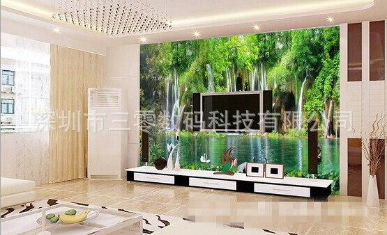 M 3d lukisan pemandangan alam mural ikea wallpaper sticker fresco decoration chinese style yang modern wallpaper untuk ruang tamu di wallpaper dari