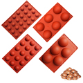 BAKER DEPOT silicone mold for cake pastry baking round shape soap Jelly pudding ice mould silicone chocolate candy fondant forms