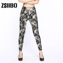 PUNK women's printing fitness fashion clothing plaid full printing low waist leg