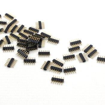 Двойная 4pin 5pin 6pin DIY маленькая часть для SMD RGB RGBW RGB CCT 5050 3528 Светодиодная лента LED разъем игла мужской тип 10 Упаковка