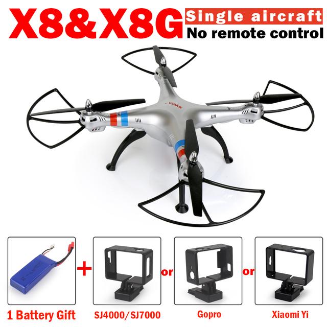 Nova syma x8g rc zangão x8 sem controle remoto e sem câmera 6-axis rc quadcopter helicóptero com x8hw vs syma syma syma x8hg x8w