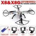 Nueva syma x8 x8g rc drone sin mando a distancia y sin cámara 6-axis rc quadcopter del helicóptero con vs syma syma syma x8hg x8hw x8w